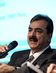 Pakistan's Prime Minister Yousuf Raza Gilani speaks during a meeting in Paris, May 2011. Gilani is responsible for the day to day running of the fragile civilian coalition government, which is understood to have tense relations with the military, which effectively controls foreign policy
