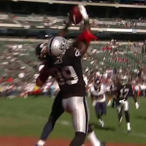 Oakland Raiders wide receiver James Jones 9-yard touchdown catch