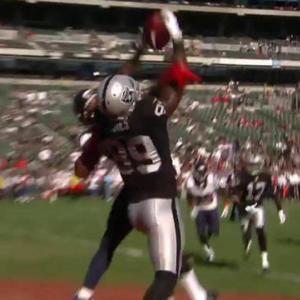 Oakland Raiders wide receiver James Jones 9-yard touchdown catch