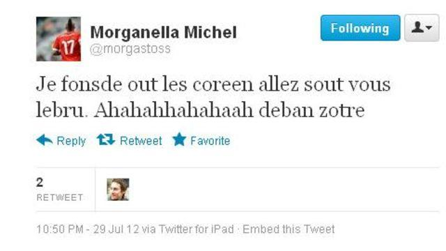 Swiss Olympian Expelled From Games for Racist Tweet