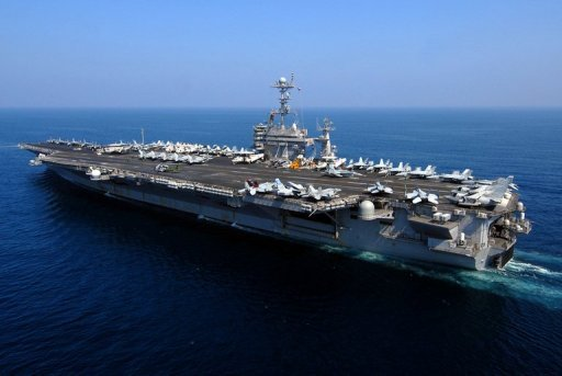 The Nimitz-class aircraft carrier USS John C. Stennis conducts operations in the Gulf in 2007. Amid tensions over Iran and Syria, the United States has brought forward the deployment of an aircraft carrier to the Middle East to shorten the time when a sole carrier is in the region
