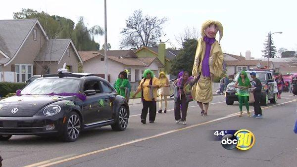 Fresno's Tower District Mardi Gras celebration