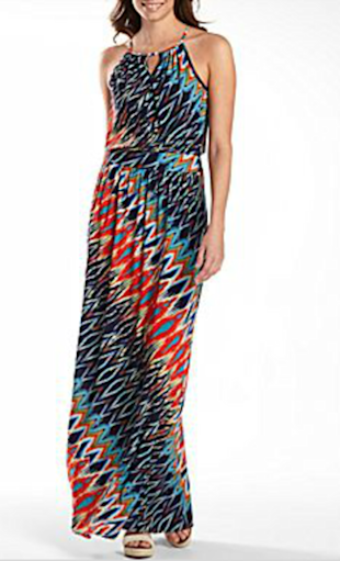 Bisou Bisou Print Maxi Dress