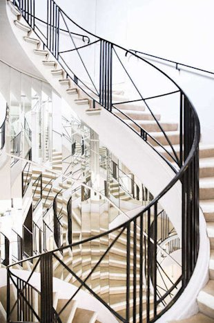 During her fashion shows, Chanel used to conceal herself from the audience by sitting on the fifth step of this mirrored stair.