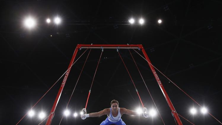 Scotland's Keatings competes in men's All-Around Artistic Gymnastics at 2014 Commonwealth Games in Glasgow