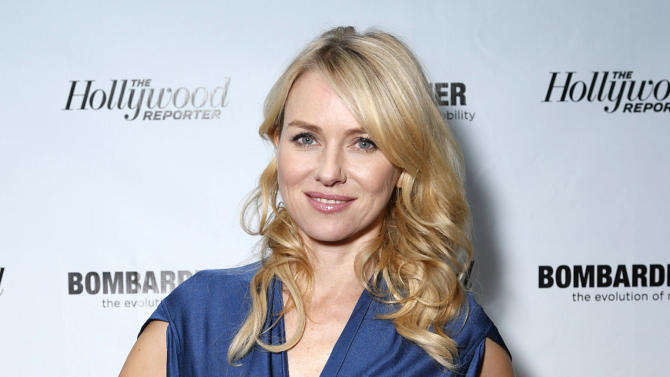 "FILE - This Jan. 5, 2013 file image released by Bombardier shows actress Naomi Watts at The Hollywood Reporter's Palm Springs Shuttle presented by Bombardier Business Aircraft, in Palm Springs, Calif. Watts was nominated  for an Academy Award for best actress on Thursday, Jan. 10, 2013, for her role in ""The Impossible.""  The 85th Academy Awards will air live on Sunday, Feb. 24, 2013 on ABC.  (AP Photo/Bombardier, Todd Williamson)"