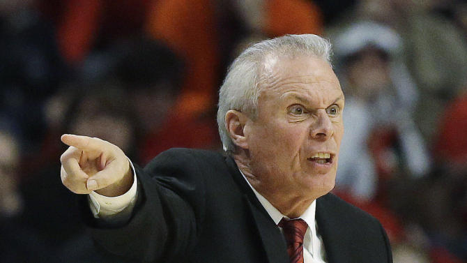 Wisconsin head coach Bo Ryan reacts during the second half of an NCAA college basketball game against Indiana at the Big Ten tournament Saturday, March 16, 2013, in Chicago. (AP Photo/Nam Y. Huh)