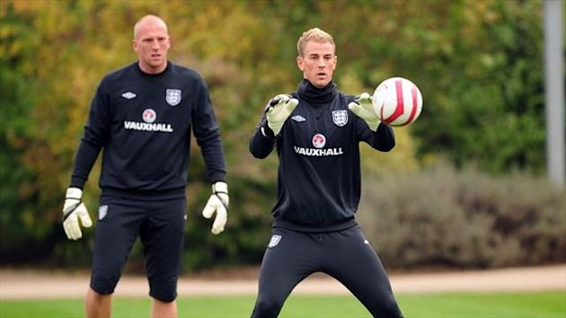 John Ruddy, left, believes Joe Hart, right, fully deserves to be England's first-choice goalkeeper