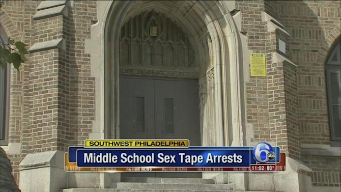 Two 13-year-old boys arrested in student sex tape scandal