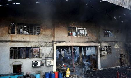 slipper factory fire in Philippines
