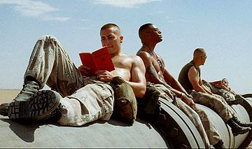 Jake Gyllenhaal , Laz Alonso , Peter Sarsgaard and Lucas Black in Universal Pictures' Jarhead