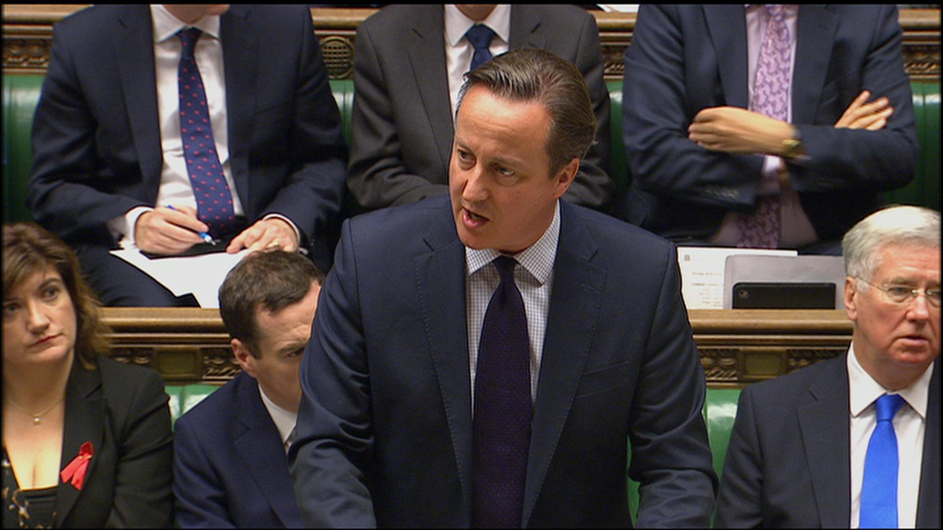 Cameron: UK must attack IS in Syria to deny group safe haven
