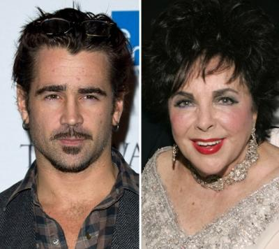 Colin Farrell, Elizabeth Taylor -- Getty Images