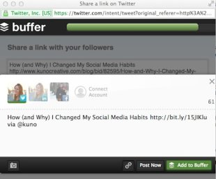 5 Cool Features of Buffer as a Social Media Scheduling Tool image add to buffer