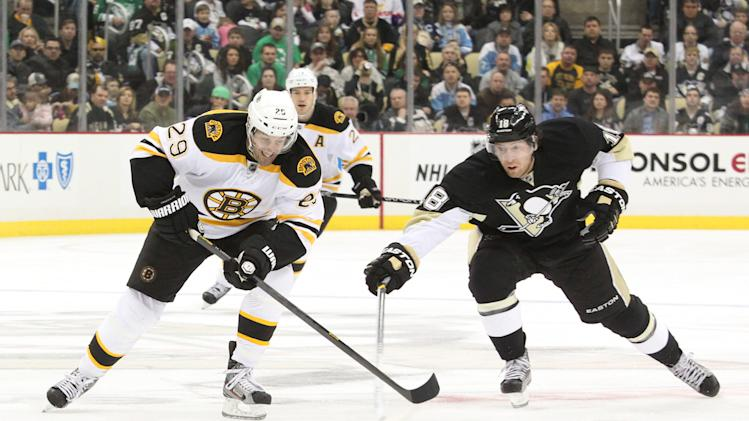 NHL: Boston Bruins at Pittsburgh Penguins