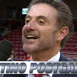 Louisville's Rick Pitino Talks Tough Win Over Boston College