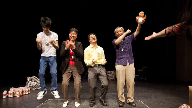 "This undated image released by The Public Theater shows actors performing a scene from the play ""C'est du Chinois,"" running January 9-16 at The Public Theater at Astor Place as part of the Under the Radar Festival 2013. (AP Photo/The Public Theater, Raquel Belli)"