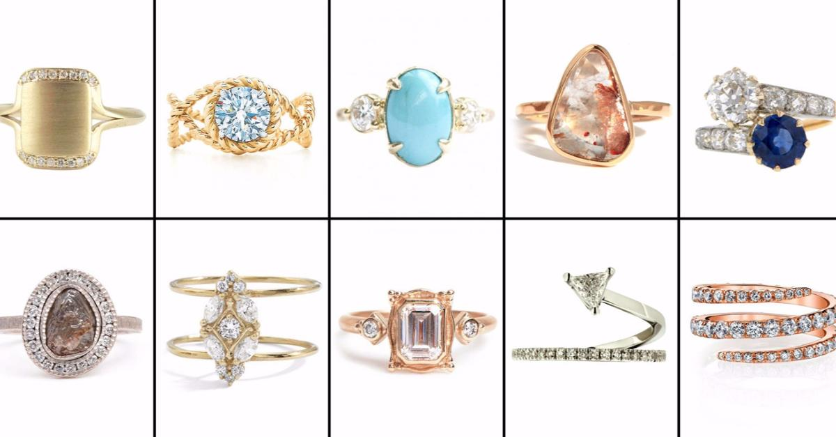 71 Engagement Rings For the Unconventional Bride