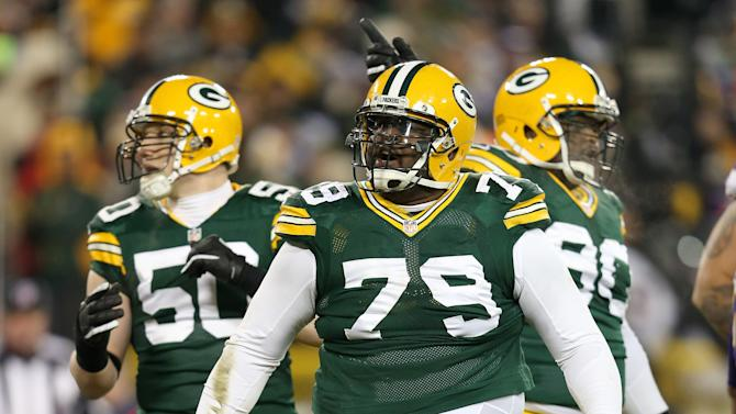 B.J. Raji is about to give new meaning to the phrase horse collar tackle. (Getty Images)