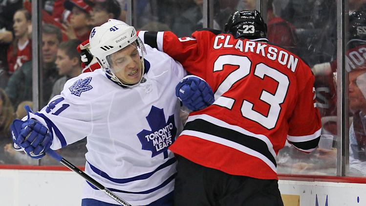 NHL: Toronto Maple Leafs at New Jersey Devils