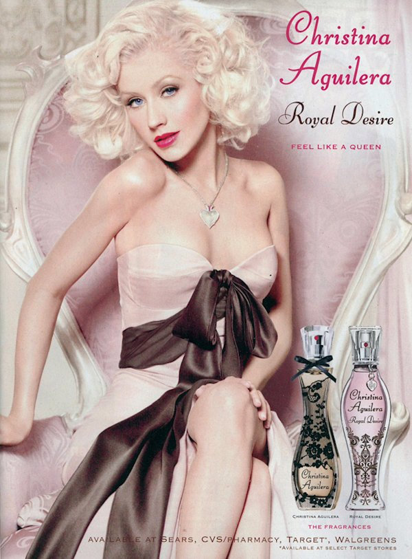 Christina Aguilera at centre of Photoshop scandal with new perfume advert