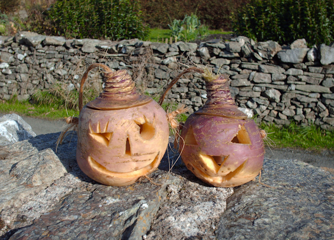 Carved Turnips