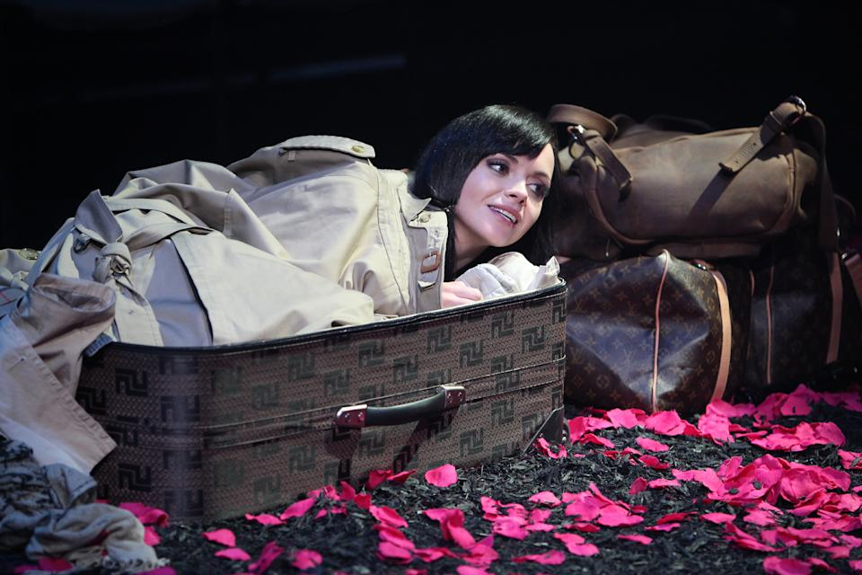 "In this theater image released by The Publicity Office, Christina Ricci performs in ""A Midsummer Night's Dream,"" in New York. (AP Photo/The Publicity Office, Joan Marcus)"