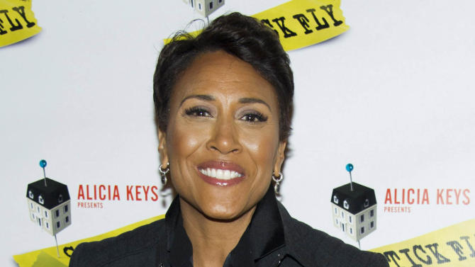 """FILE - This Dec. 8, 2011 file photo shows ABC News personality Robin Roberts arriving to the opening night performance of the Broadway play """"Stick Fly"""", in New York. On Monday, June 11, 2012, Roberts announced on """"Good Morning America"""" that she has been diagnosed with MDS or myelodysplastic syndrome, a disease of the blood and bone marrow and was once known as preleukemia. She will start pre-treatment chemotherapy in advance of a bone marrow transplant later this year. (AP Photo/Charles Sykes, file)"""