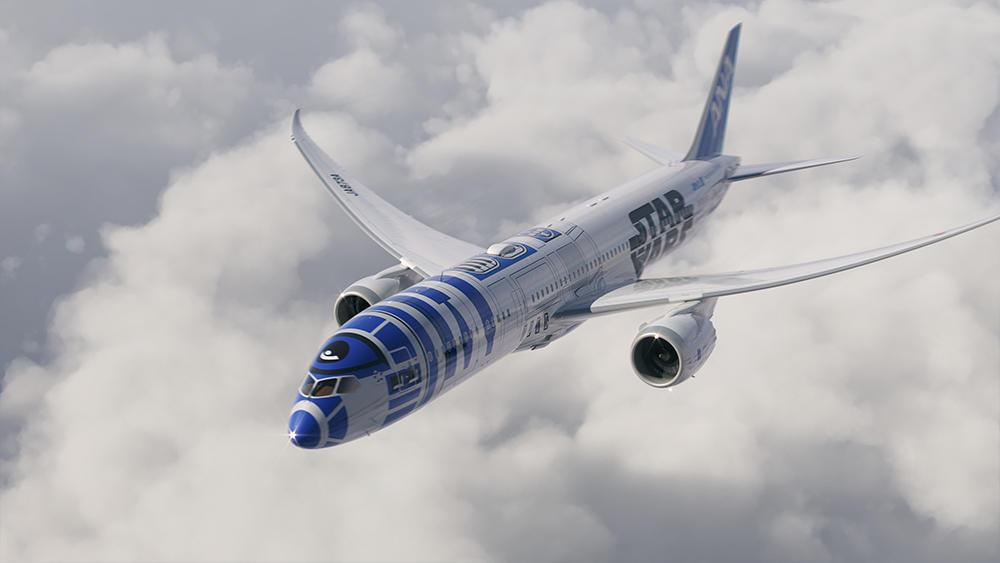You can fly in an R2-D2 'Star Wars'-themed jet this year