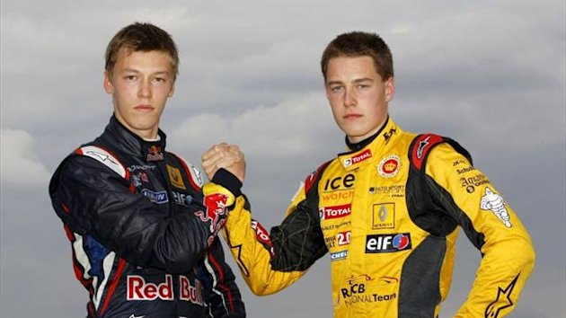 Daniil Kvyat (left) and Stoffel Vandoorne (right)