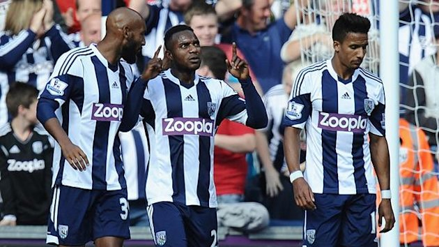 Stephane Sessegnon of West Bromwich Albion celebrates against Sunderland (Getty Images)