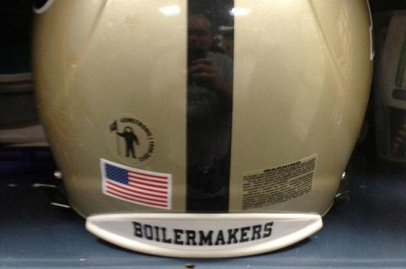 Purdue Football Honoring Neil Armstrong with Helmet Decal