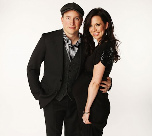 Nate Yetton and pregnant Joy Williams pose in the Wonderwall.com Portrait Studio during 2012 CMT Music awards at the Bridgestone Arena in Nashville on June 6, 2012 -- Getty Images