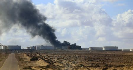 Rocket hits storage tank at Libya's biggest oil port