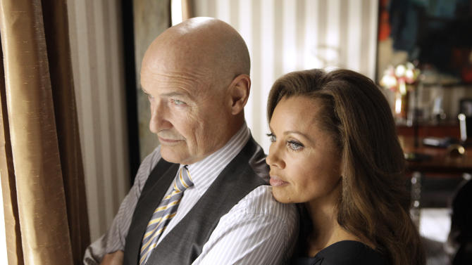 "FILE - This publicity file image released ABC shows Vanessa Williams as Olivia Doran, right, and Terry O'Quinn as Gavin Doran in a scene from the ABC series, ""666 Park Avenue,"" which premiered on ABC on Sunday, Sept. 30, 2012. ABC canceled two low-rated new TV series, ""Last Resort"" and ""666 Park Avenue,"" and didn't announce Friday, Nov. 16, 2012, what will replace the two series after they finish airing. (AP Photo/ABC, Patrick Harbron, File)"