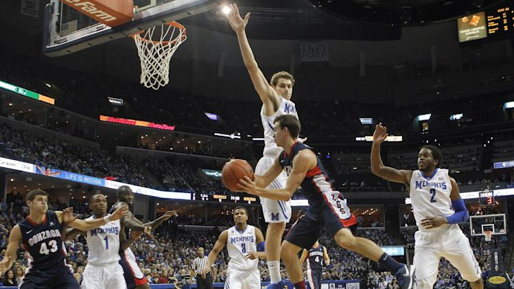No. 24 Memphis rallies past No. 23 Gonzaga, 60-54