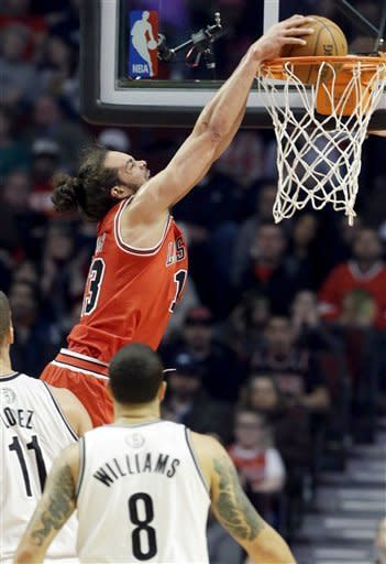 Noah, Boozer lead Bulls past Nets 96-85