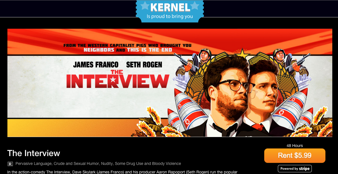 'The Interview' Available In Canada On Sony Site Powered By Kernel