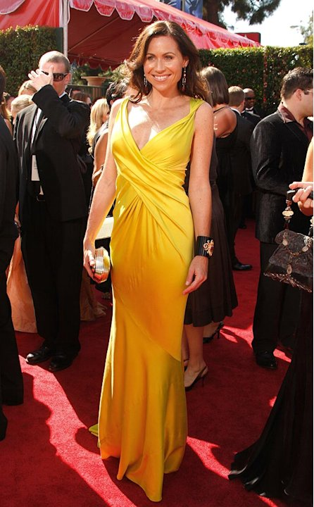 Minnie Driver arrives at the 59th Annual Primetime Emmy Awards at the Shrine Auditorium on September 16, 2007 in Los Angeles, California.