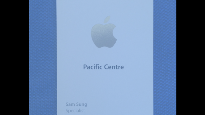 The most hilariously named ex-Apple employee is auctioning off his old business card