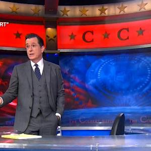 """Charlie Rose joins Stephen Colbert on the final """"Report"""""""