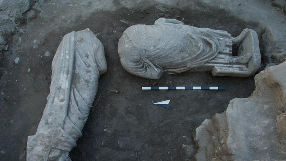 Headless Roman Statues Found in Ancient City