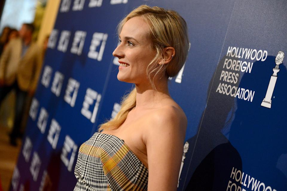 Diane Kruger arrives at the Hollywood Foreign Press Association Luncheon at the Beverly Hilton Hotel on Tuesday, Aug. 13, 2013, in Beverly Hills, Calif. (Photo by Jordan Strauss/Invision/AP)