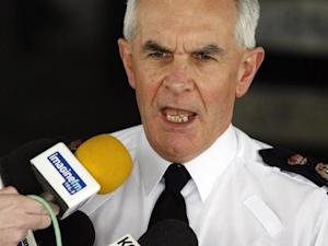 File photo shows Chief Constable of Greater Manchester Police, Peter Fahy, speaking to the media outside of police headquarters in Manchester, north-west England on April 9, 2009