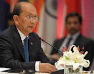 Myanmar President Thein Sein pictured in New Delhi on December 20, 2012. On Thursday, state media said Thein Sein had established a committee to review political prisoner cases &quot;to grant them liberty.&quot;