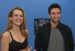"""Petra Nemcova and Dmitry Chaplin at """"Dancing with the Stars"""" rehearsal in Los Angeles, Calif., on April 8, 2011 -- Access Hollywood"""