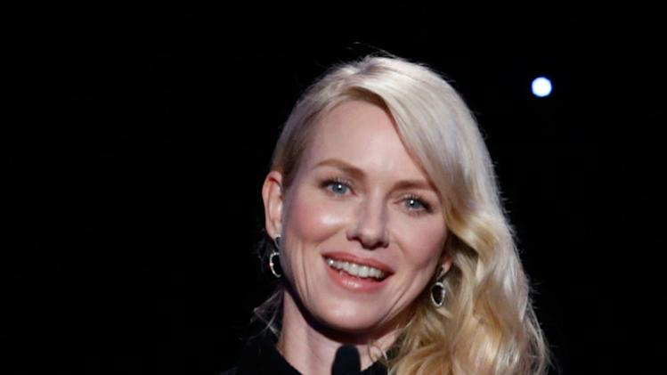 IMAGE DISTRIBUTED FOR THE PRODUCERS GUILD - Naomi Watts speaks onstage at the 24th Annual Producers Guild (PGA) Awards at the Beverly Hilton Hotel on Saturday Jan. 26, 2013, in Beverly Hills, Calif. (Photo by Todd Williamson/Invision for The Producers Guild/AP Images)