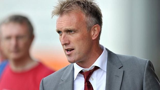 Crewe boss Steve Davis, pictured, has made Vadaine Oliver his first summer signing