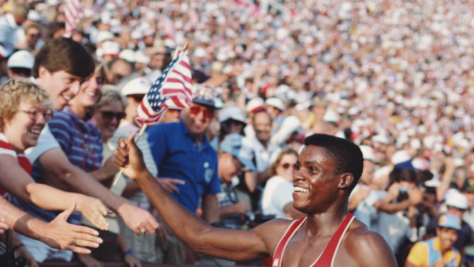 Carl Lewis of the USA