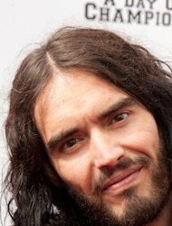 Russell Brand arrives at the Yahoo! Sports Presents A Day Of Champions event at the Sports Museum in Los Angeles on November 6, 2011 -- Getty Images